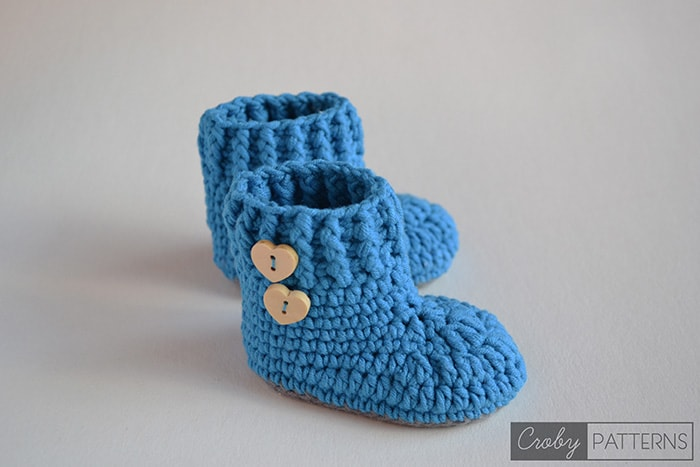 Crochet Patterns Free Drops : VIOLET DROPS ? Crochet Baby Booties ? Croby Patterns