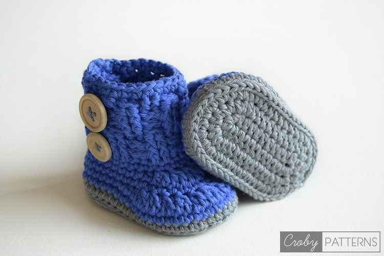 VIOLET DROPS ? Crochet Baby Booties ? Croby Patterns