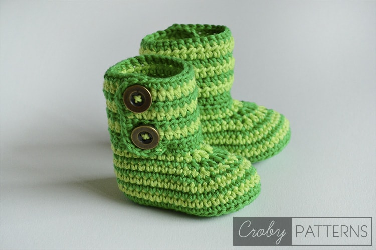 Free Pattern Crochet Baby Booties Green Zebra Croby Patterns