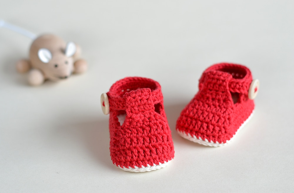 RUBY SLIPPERS – Crochet Baby Booties | Croby Patterns