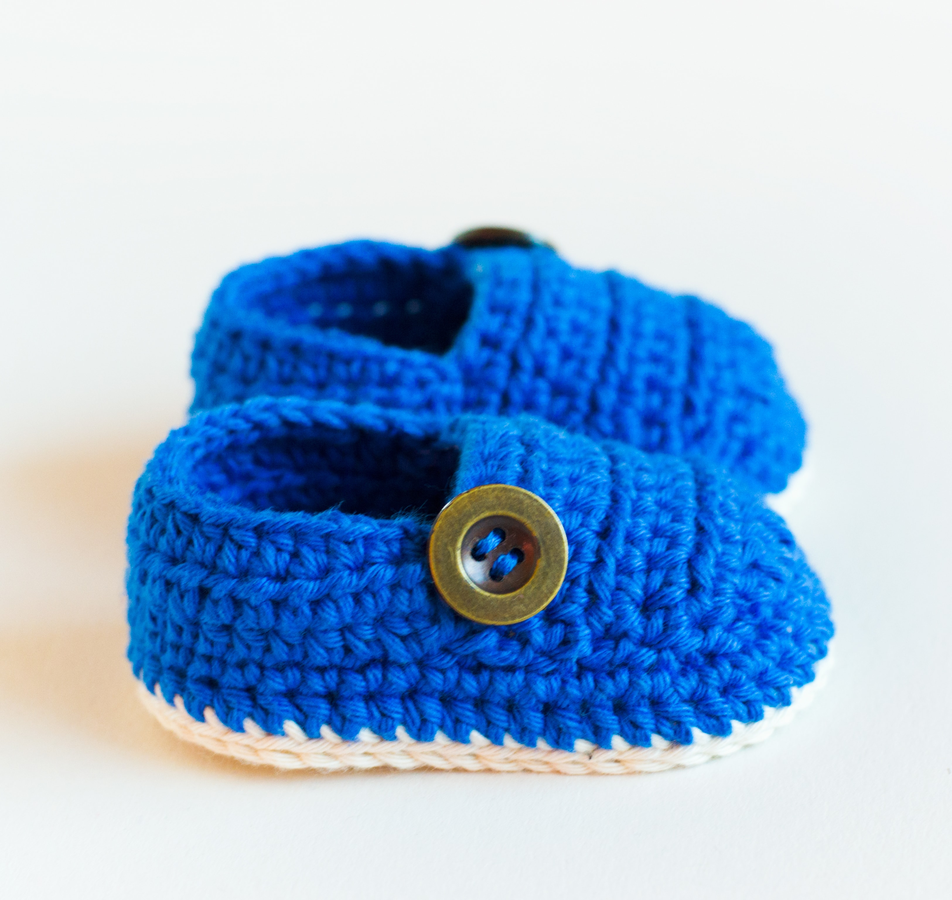 Croby Patterns Crochet Baby Booties – GRANDPA SLIPPERS | Free Baby ...