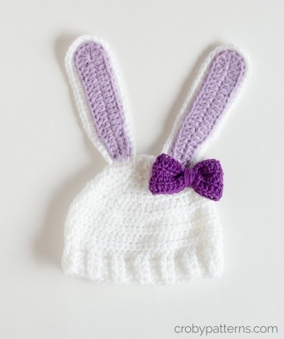Free Crochet Pattern - Little Bunny Hat  by Croby Patterns