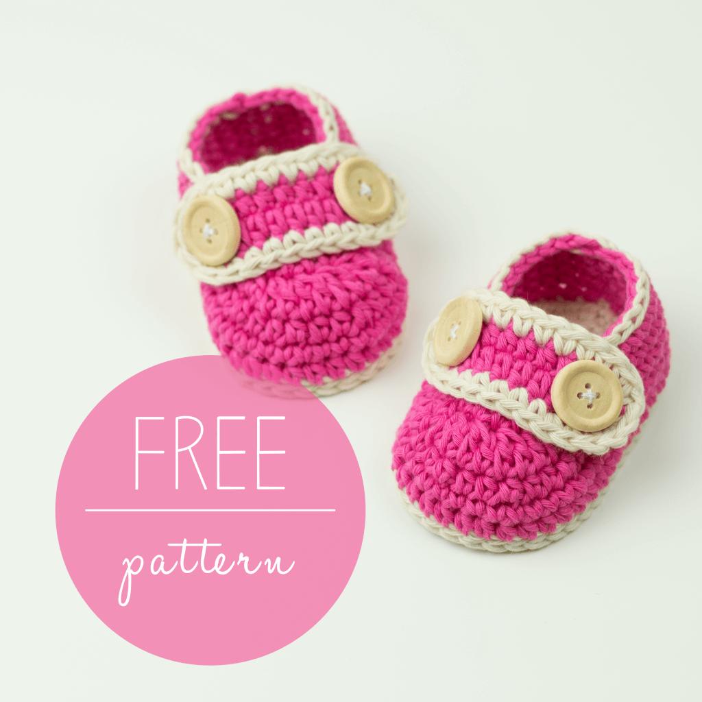 Crochet Baby Booties Pretty In Pink – FREE Pattern
