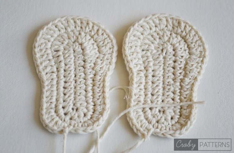 Crochet Baby Booties Orange Pumpkin Croby Patterns