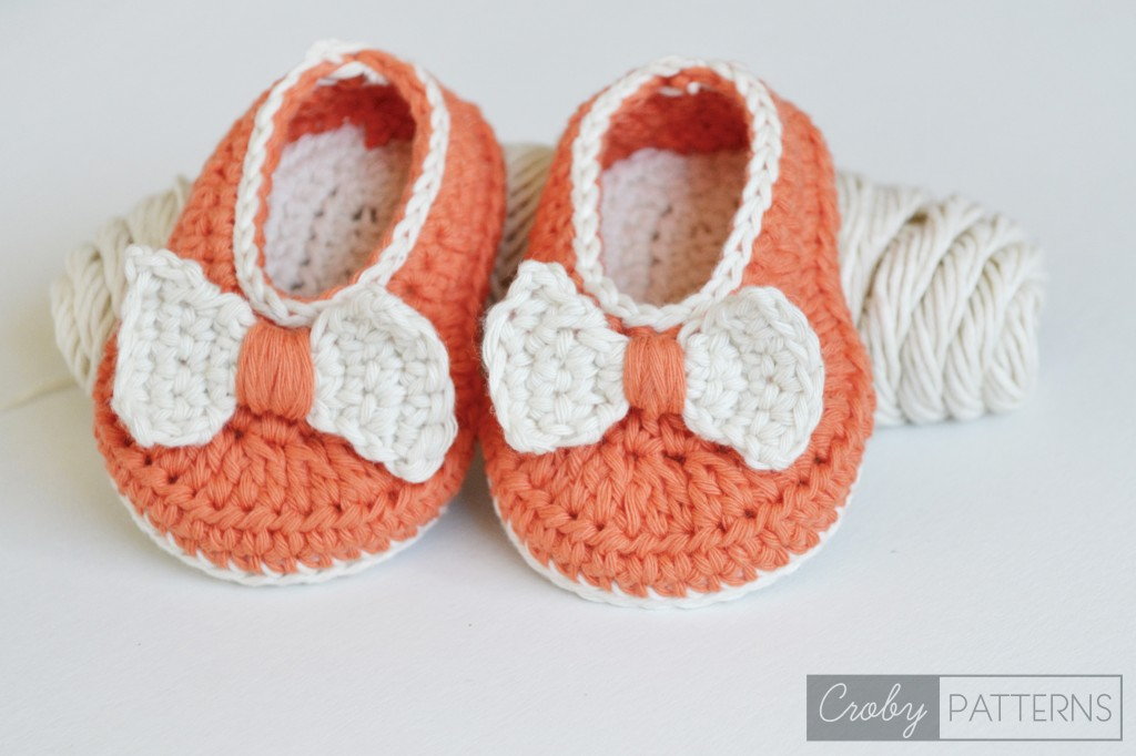 Orange Pumpkin – Crochet Baby Flats/Botties
