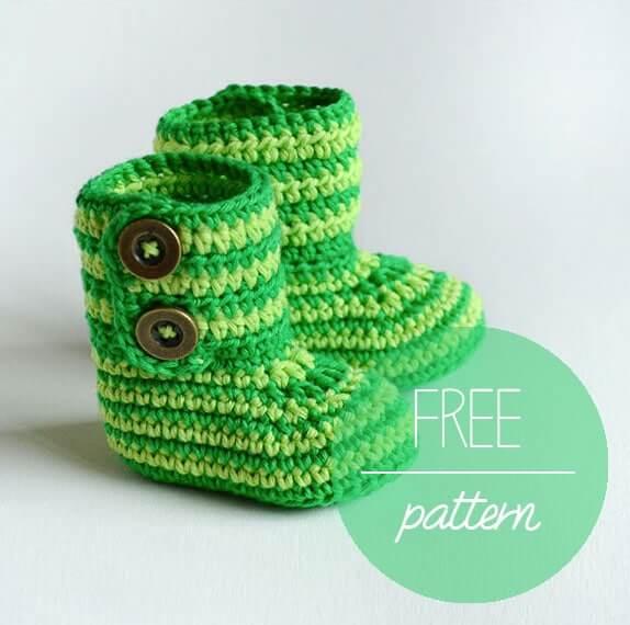 Free Pattern Crochet Baby Booties Green Zebra Pdf Download