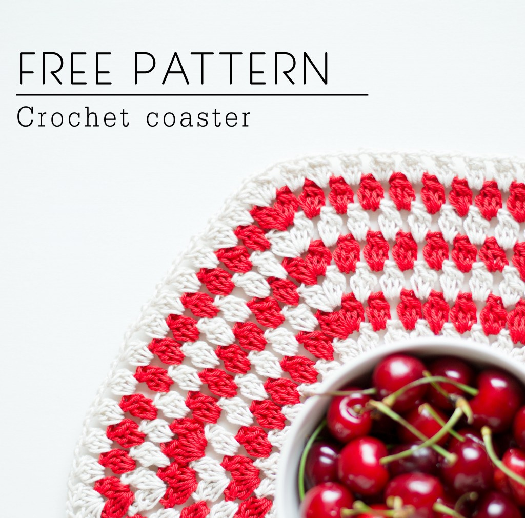 FREE PATTERN Crochet Coaster by Croby Patterns