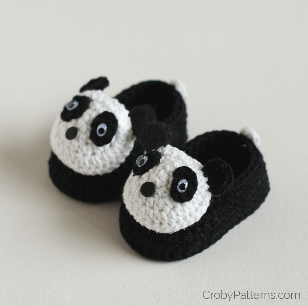 Panda Baby Booties by Croby Patterns