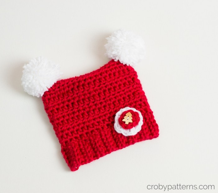 Crochet baby Christmas Hat by Croby Patterns
