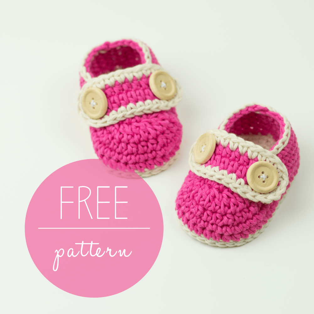 Crochet Baby Booties Pretty In Pink - FREE Pattern