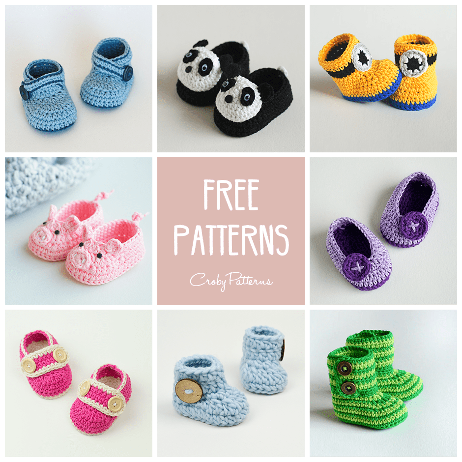 Baby Booties Crochet Pattern Simple Design Ideas
