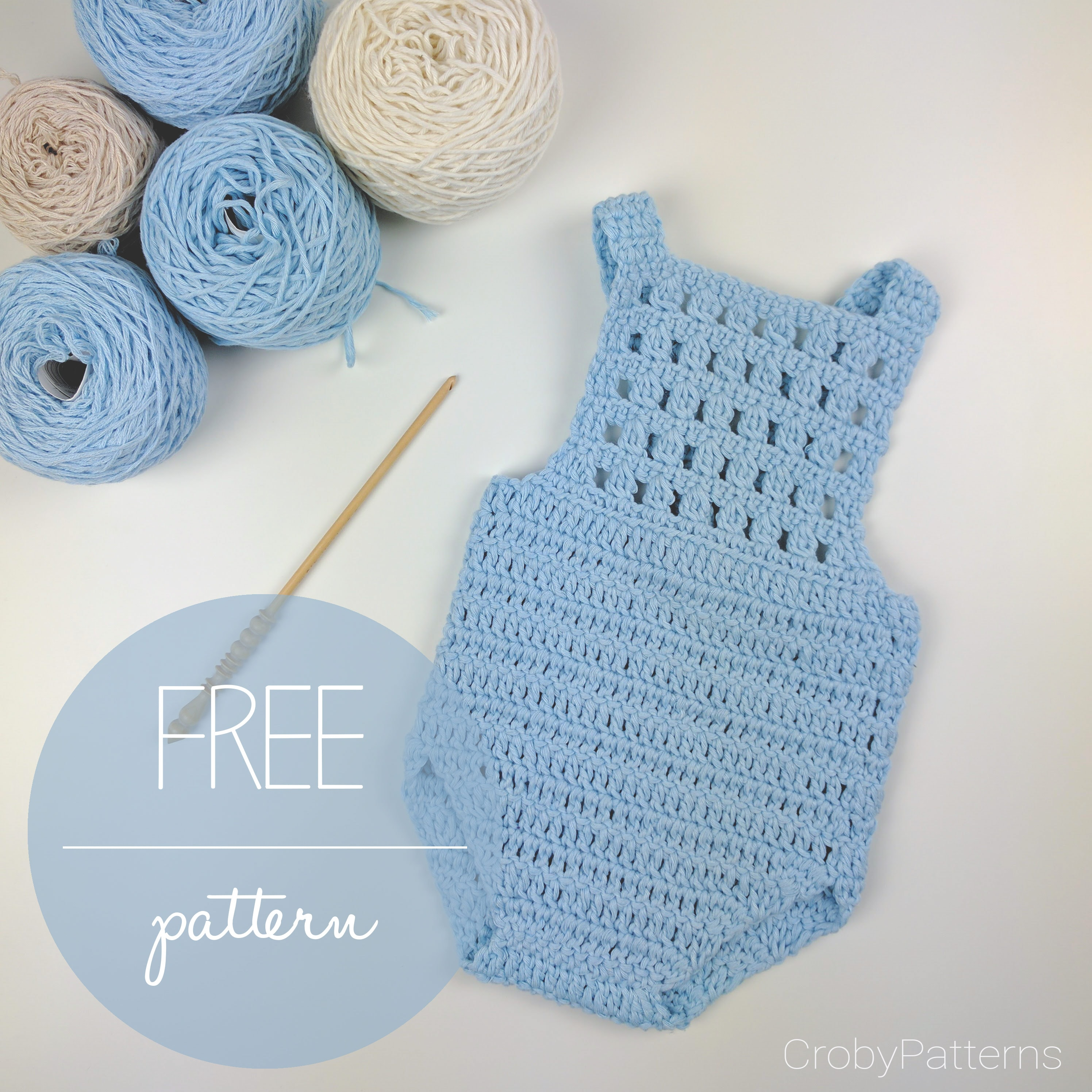 How To Make A Crochet Baby Romper - Croby Patterns