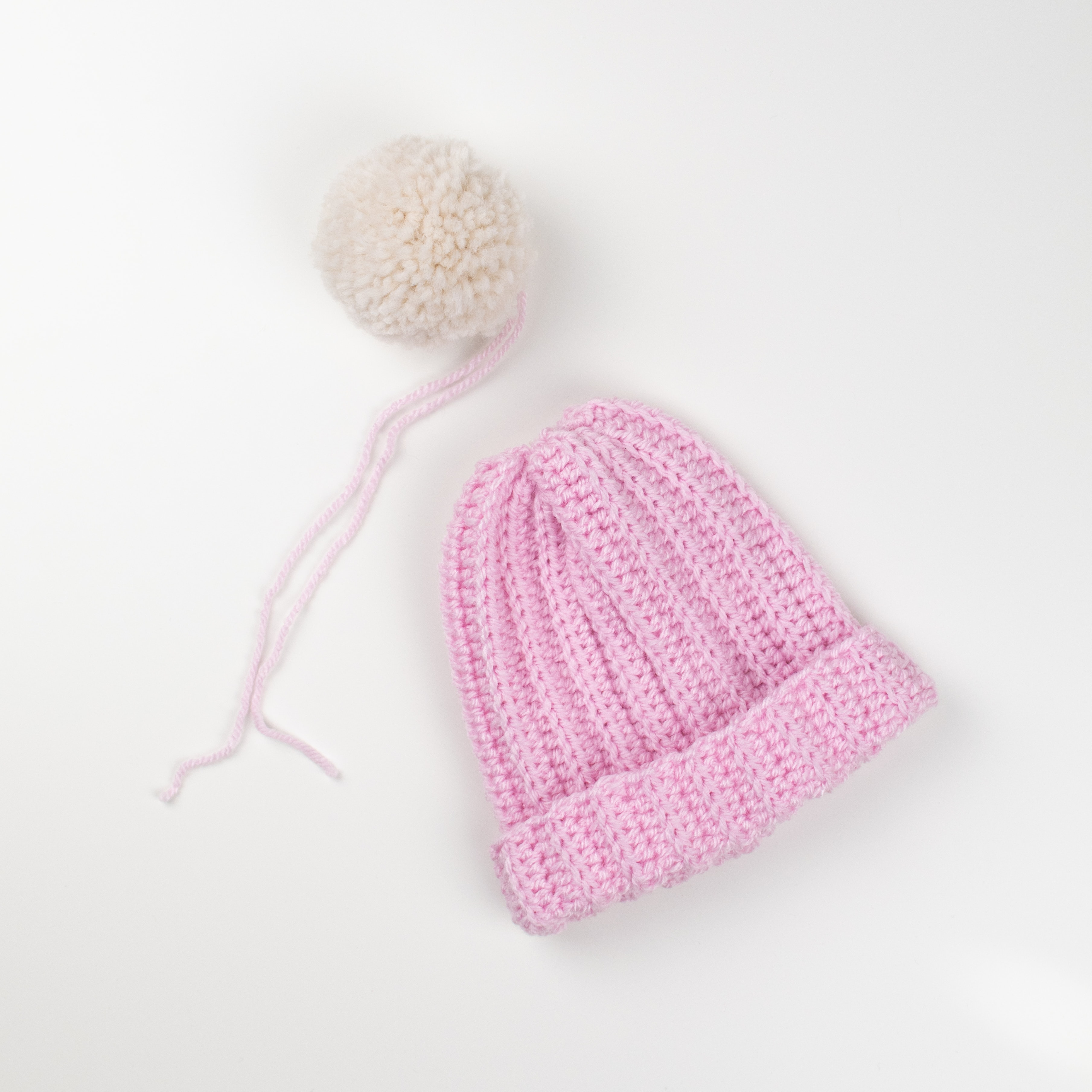 8fe42dccc32 TIP  You can create two pom poms and attach each to one side of the hat
