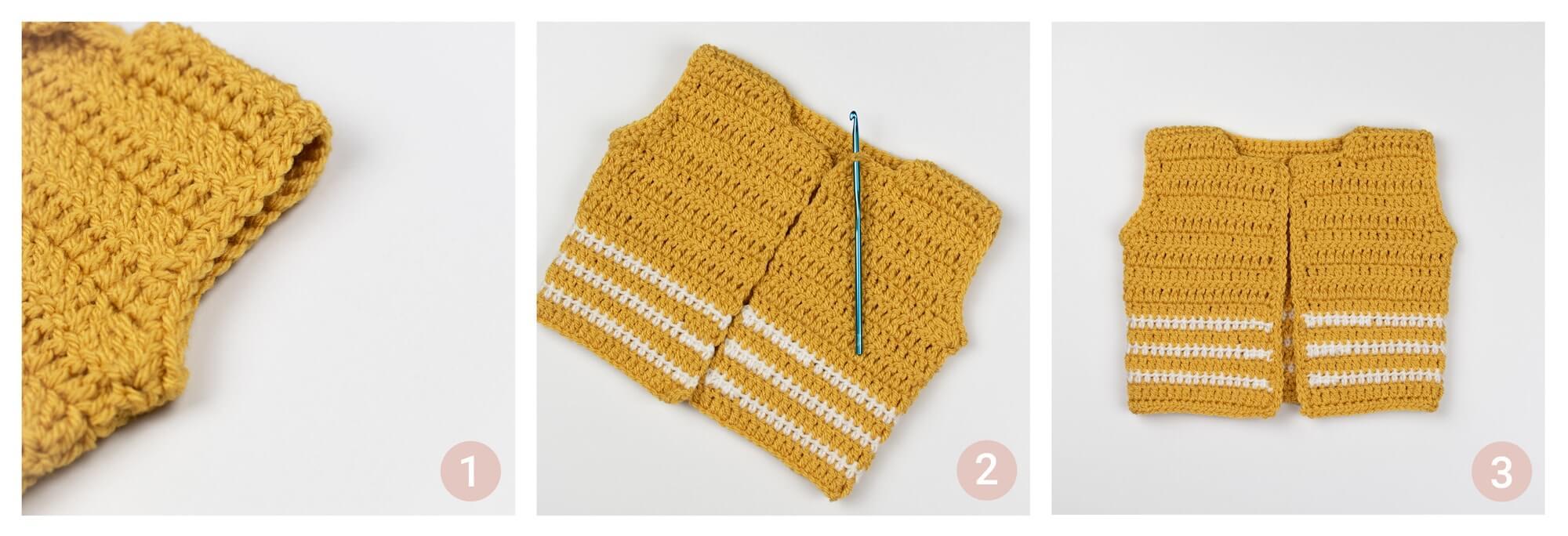 Pom Pom Crochet Baby Cardigan Croby Patterns