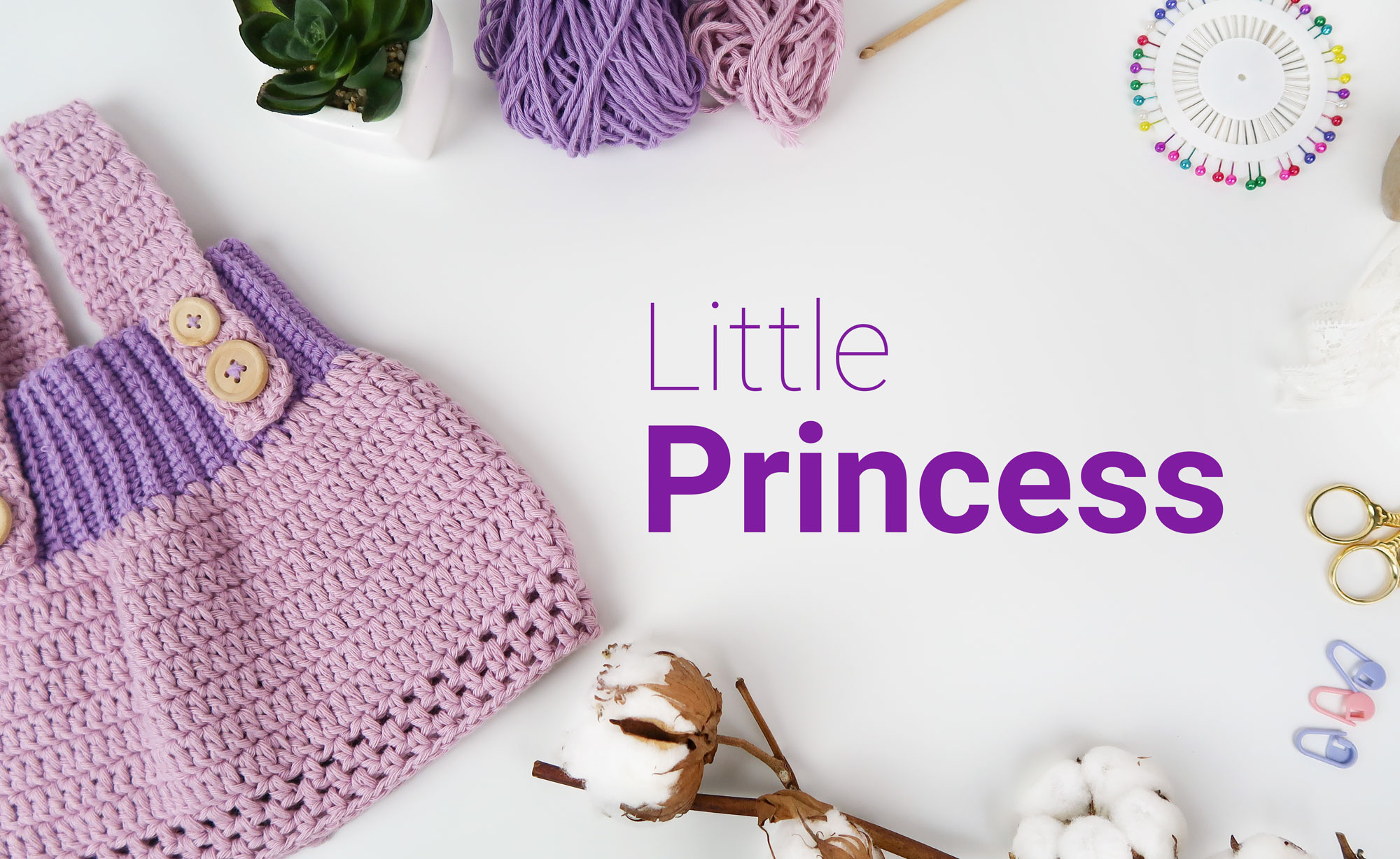 Crochet Dress Litte Princess by Croby Patterns