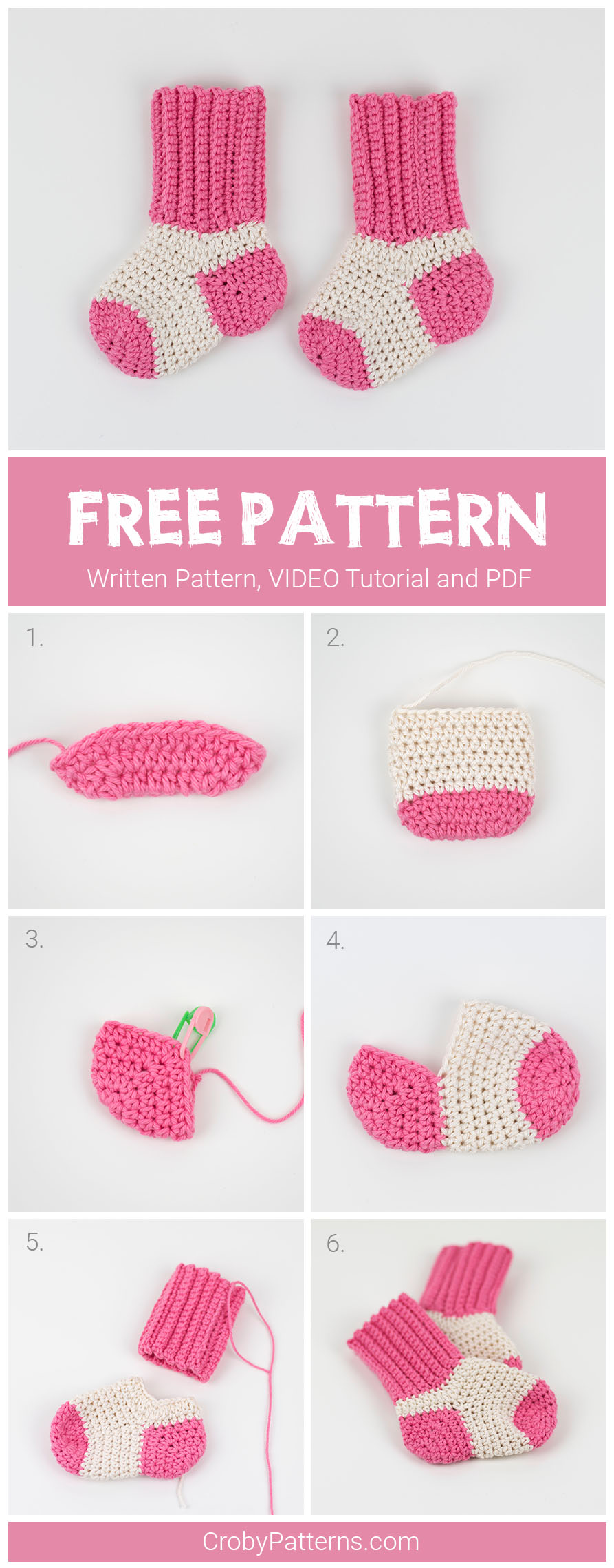 FREE PATTERN: Tiny Socks For Tiny Feet | Croby Patterns