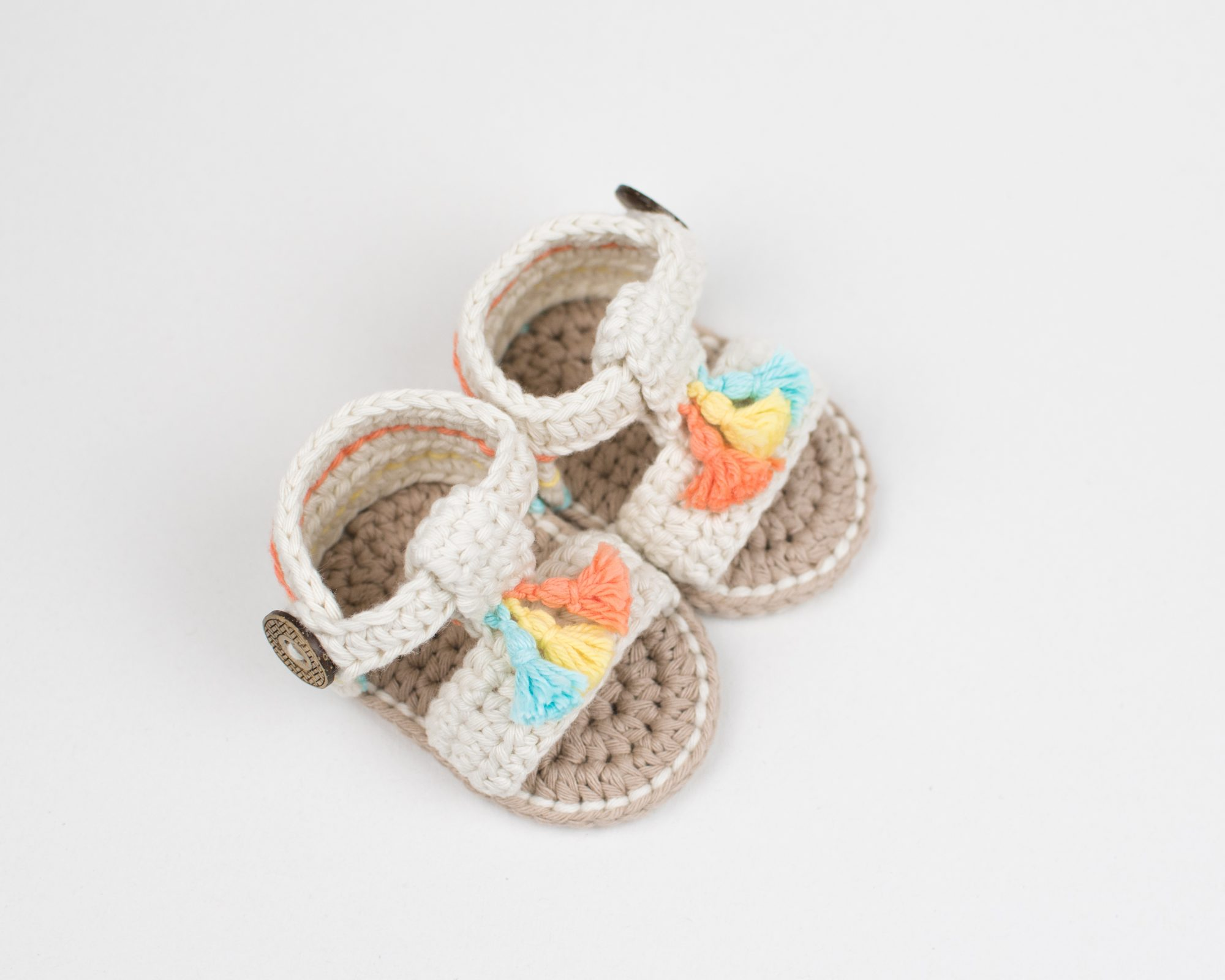 bb559b68abc0ed The pattern is made with two of my favorite yarns Rico Creative Cotton in  Aran weight and Paintbox Yarns Cotton in weight DK. The sandals match with  the ...