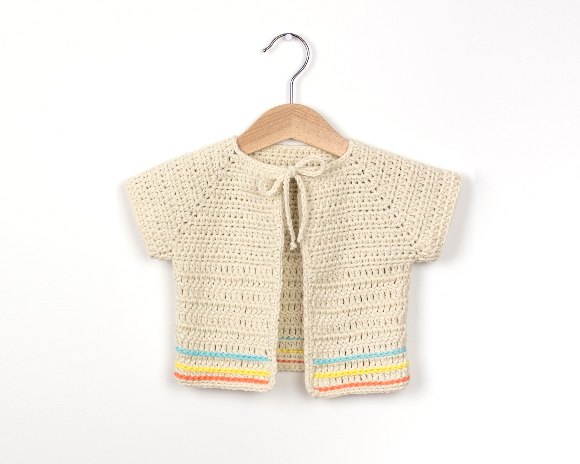 2e7c28949 This week I am going to share with you a very simple and beginner friendly  pattern and video tutorial on how to make a boho-inspired crochet baby  cardigan.