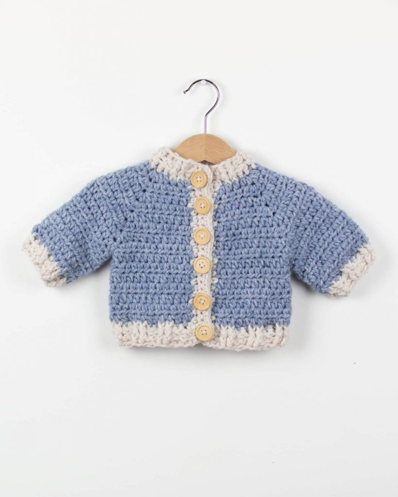 Crochet Baby Cardigan Winter Snowflake Free Pattern Croby Patterns