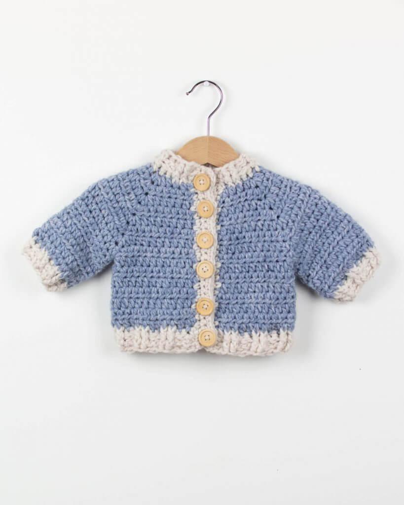 b65bb5ea8b06 Crochet Baby Cardigan Winter Snowflake - FREE PATTERN